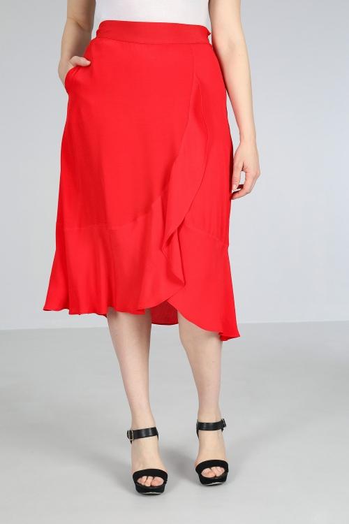 Fluid viscose skirt