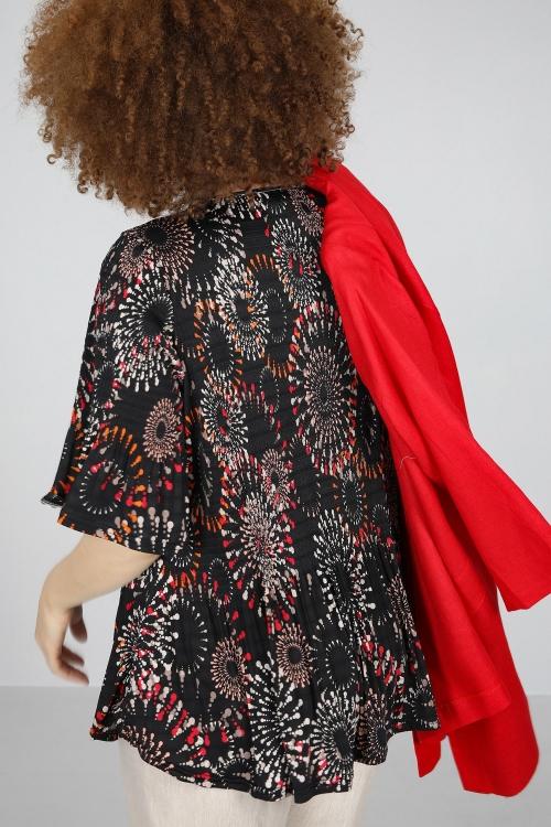 T shirt-Violet/rouge