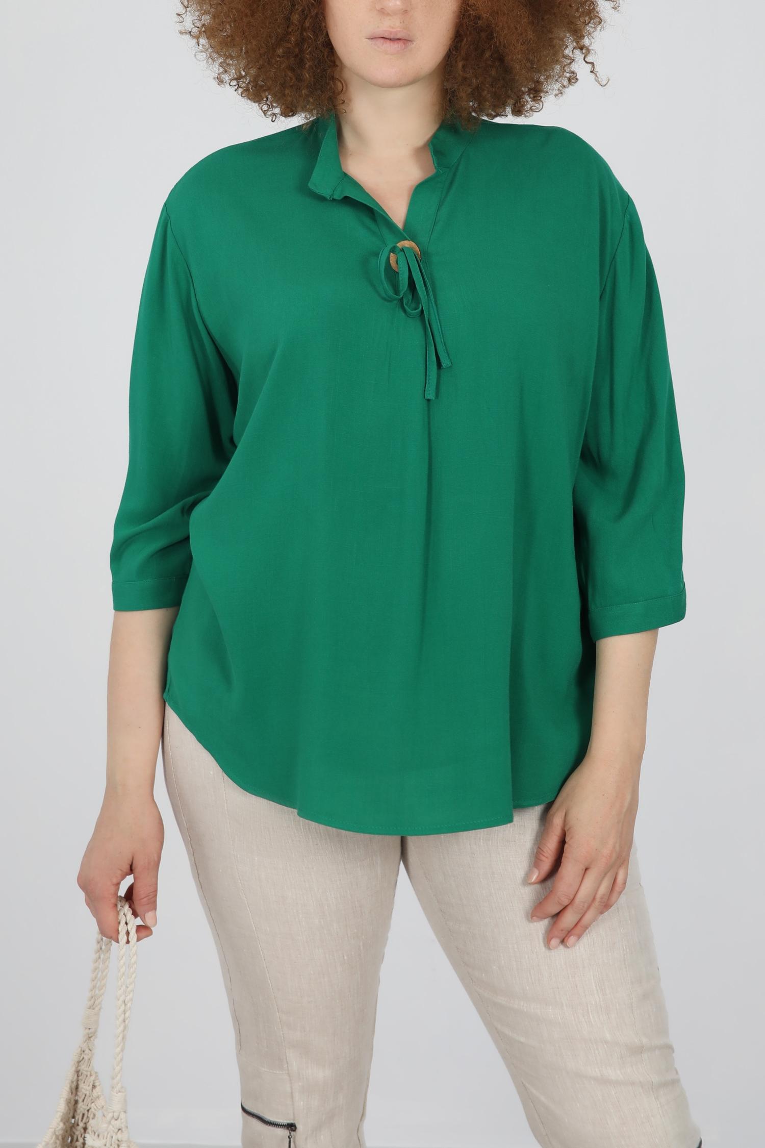 Mao collar fluid blouse