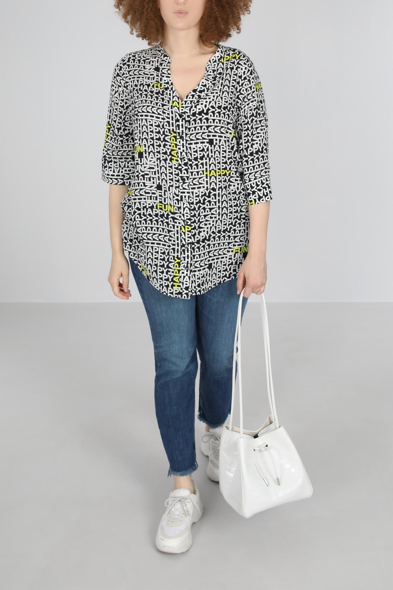 Mao collar straight shirt