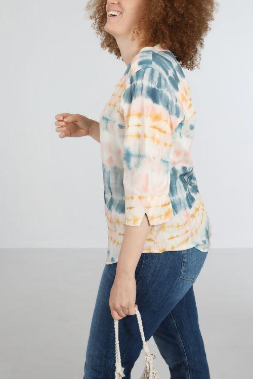 Chemise fibranne imp-Dev/t&dye