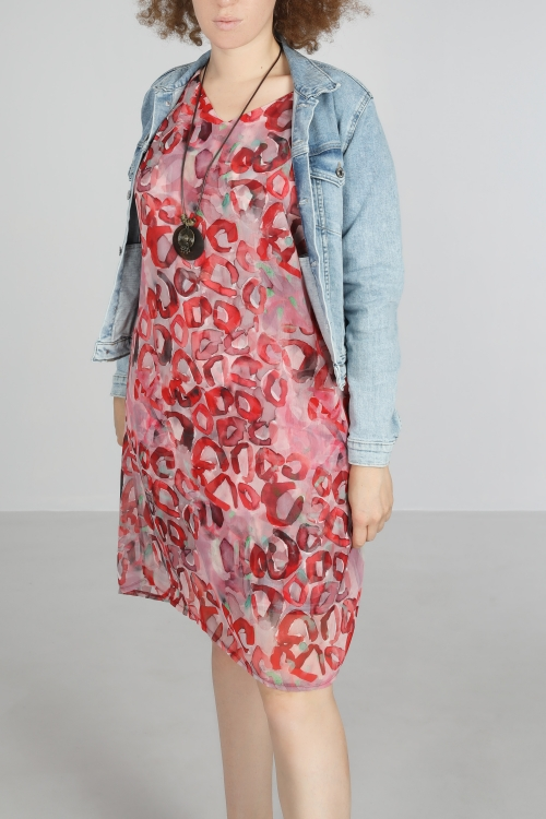 Printed voile dress