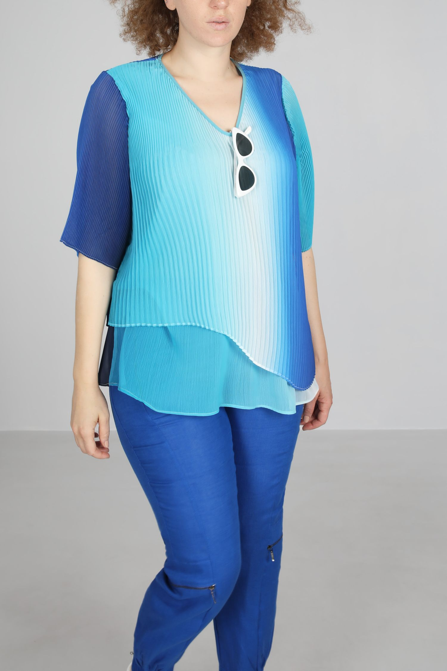 T shirt-Turquoiser/t&dye