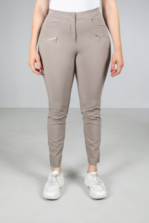 Flowing pants detail zipped