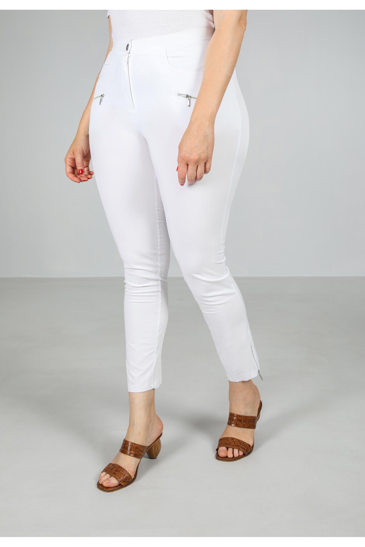 Flowing pants detail zipped