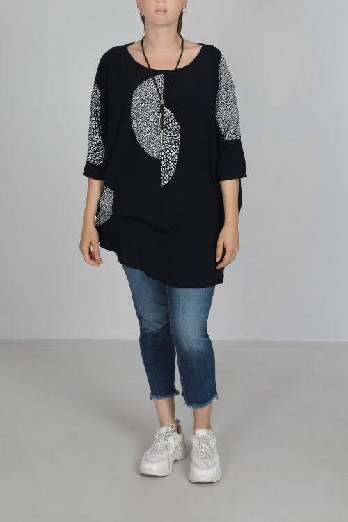 Tunic long plain and printed