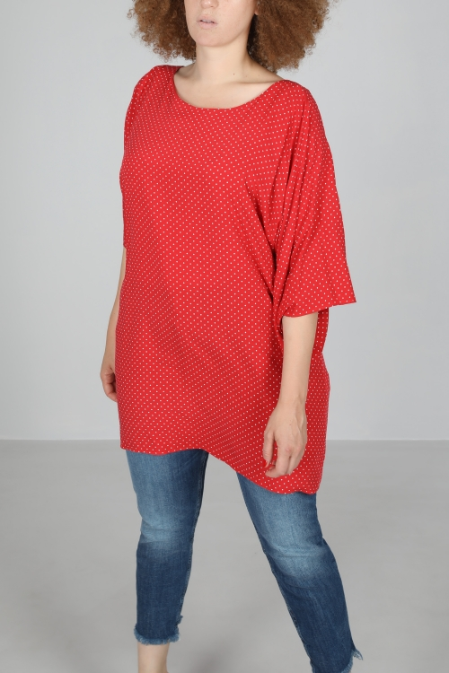 T shirt-Rouge/ppois