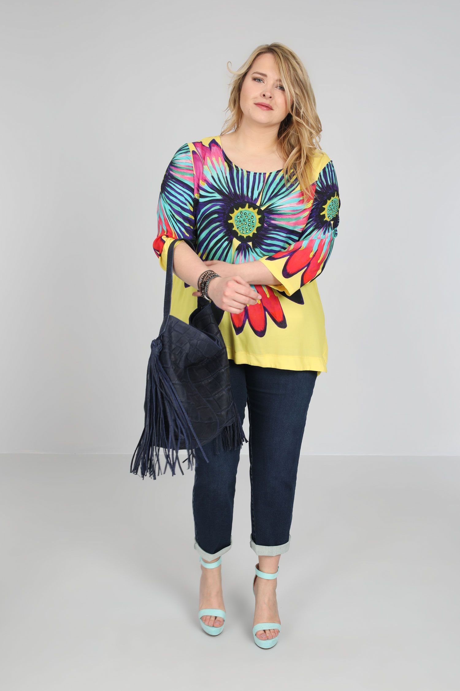 Tunic with butterfly print