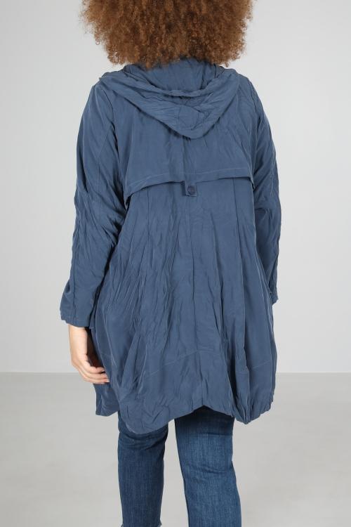 coat 7/8 crumpled appearance
