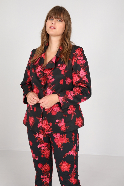 Printed ottoman suit jacket