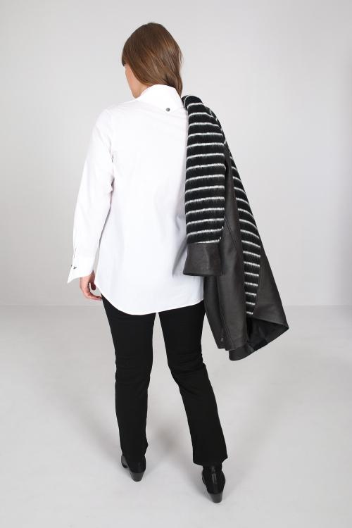 Lycra poplin straight shirt