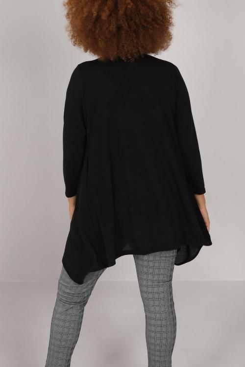 Long vest in fine knit