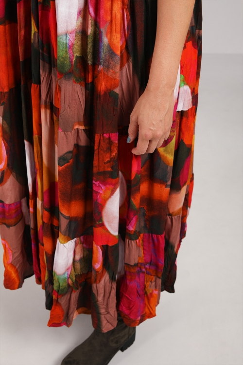 Long dress with ruffles