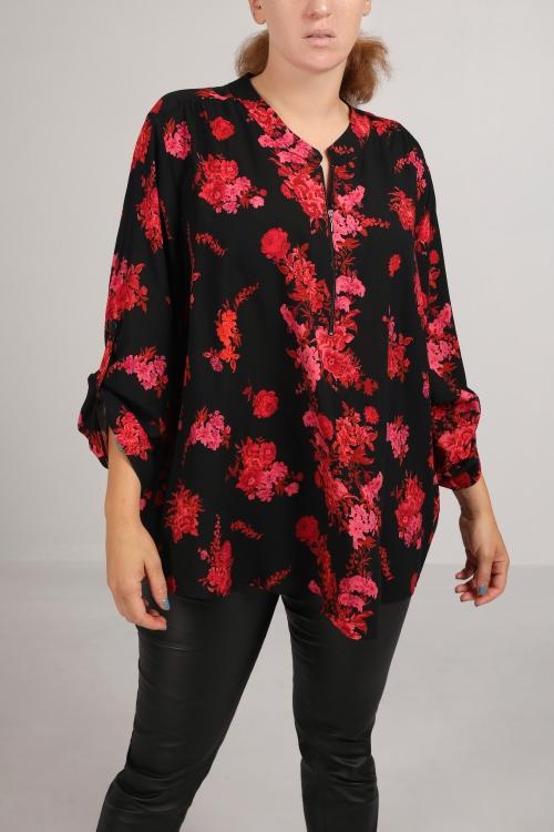 "Fuchsia shirt printed ""pink"""