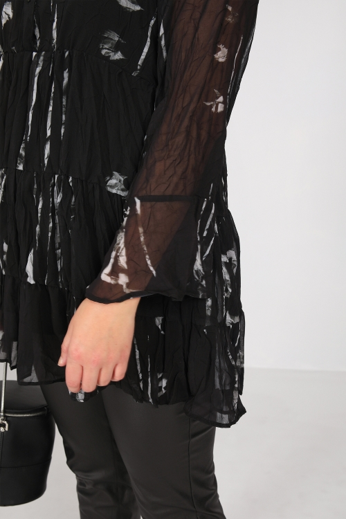 Ruffled shirt in veil (delivery 09/15th)