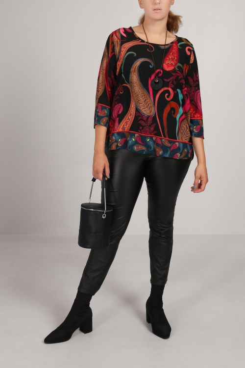 Cashmere printed tunic