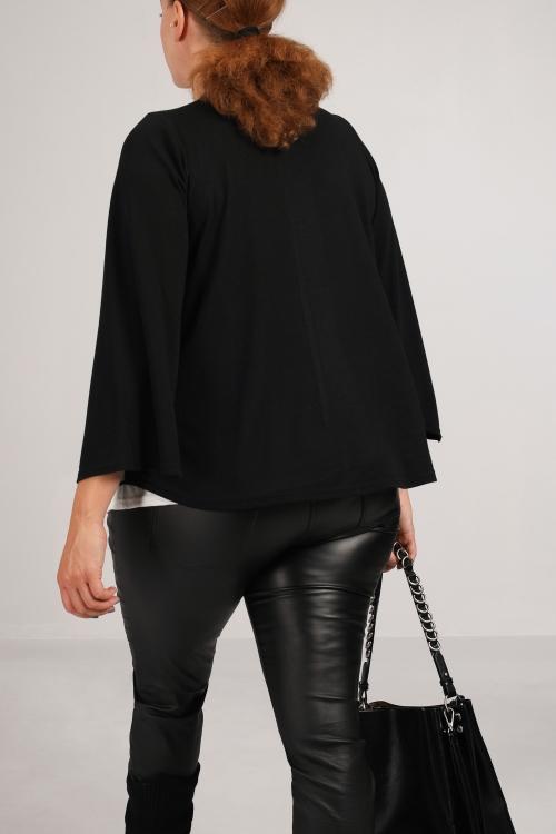 T shirt-Nero/panna