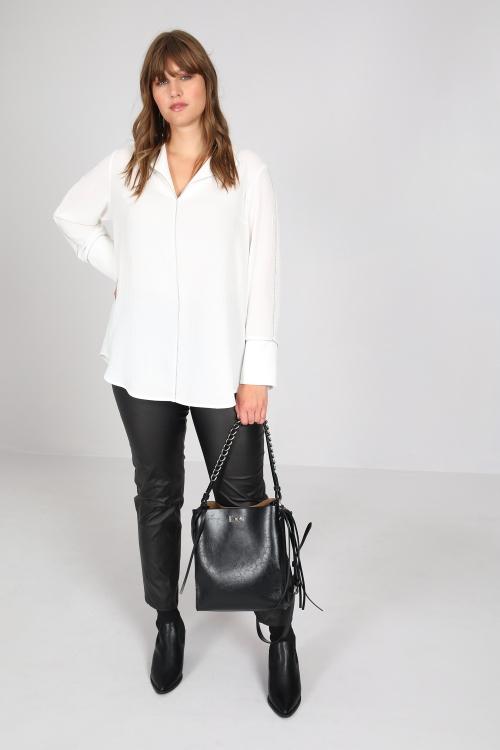 Embossed crepe blouse