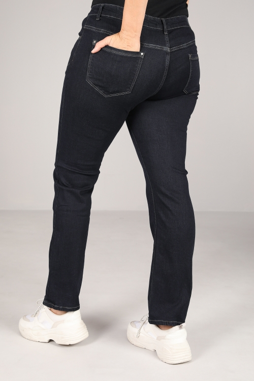 Raw straight jeans