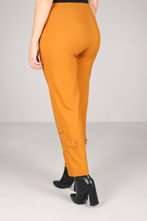 Solid bengaline trousers