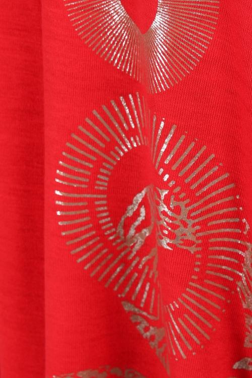 Screenprinted knit tunic