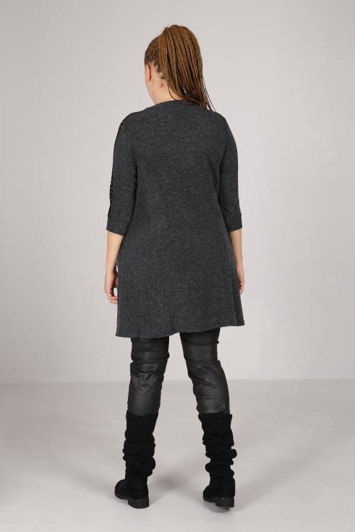 Heather knit dress