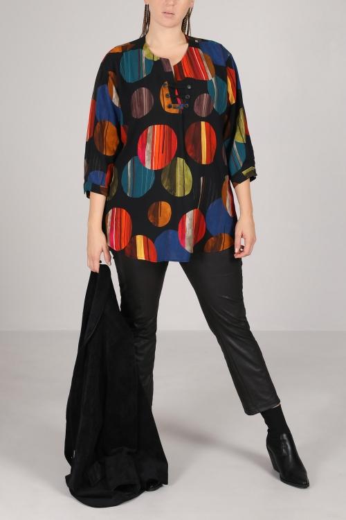 Printed viscose shirt / blouse