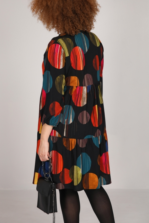 Tunic / dress printed and flounced