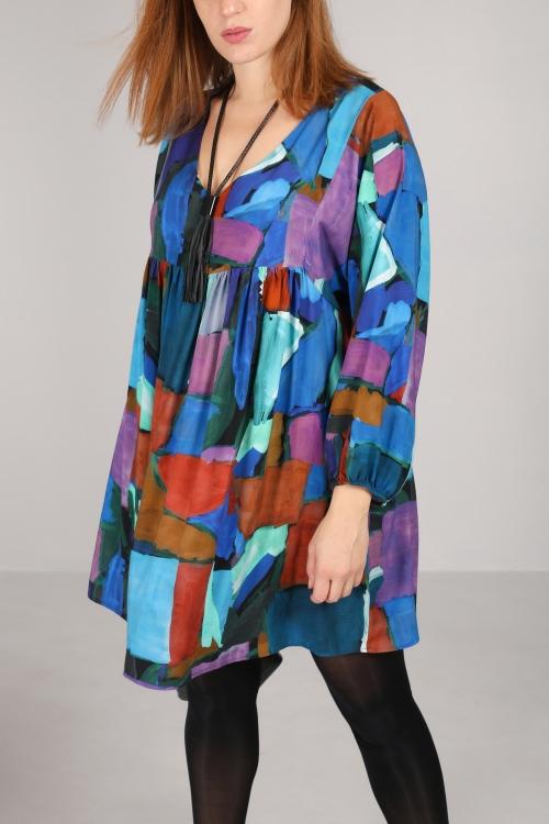 Ruffled print dress / tunic