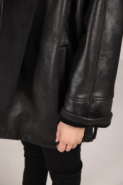 Veste effet peau lainé