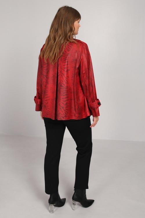 Jacket in imitation leather zebra