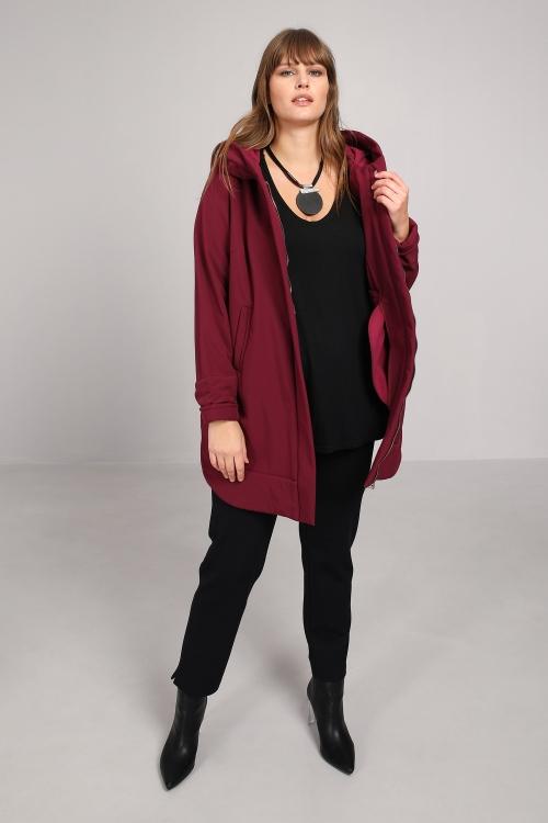 7/8 hooded coat
