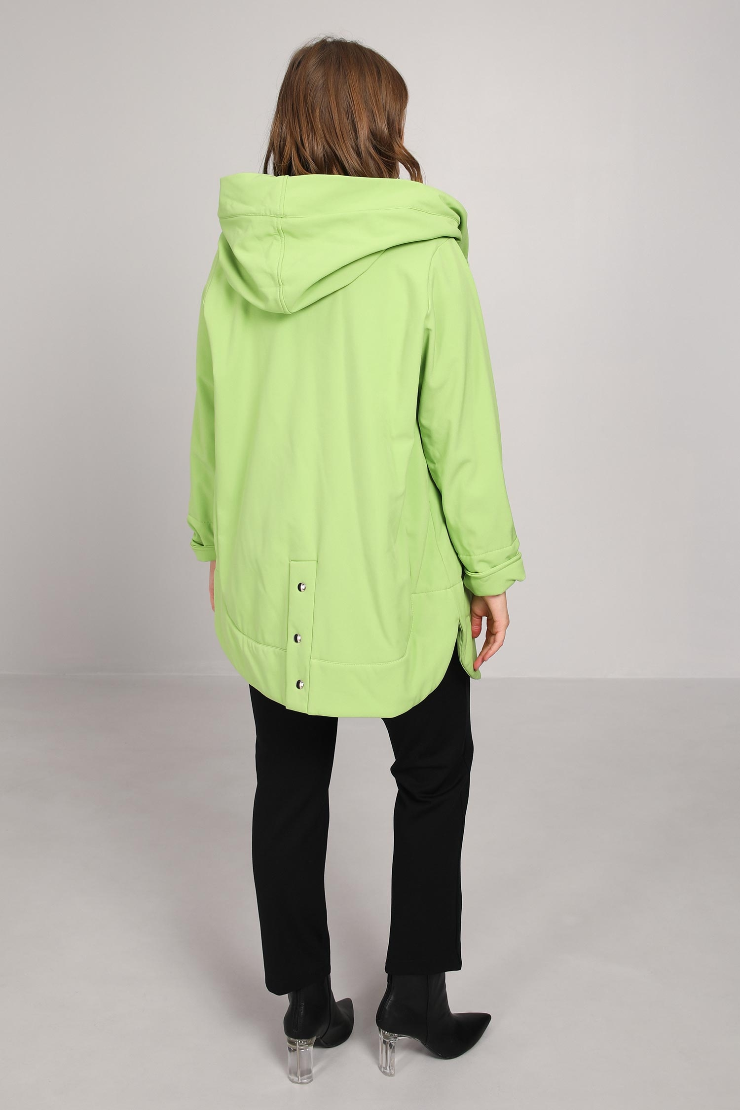 7/8 hooded coat