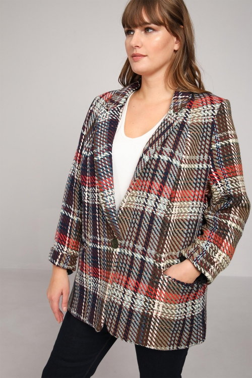 Checked tailored jacket