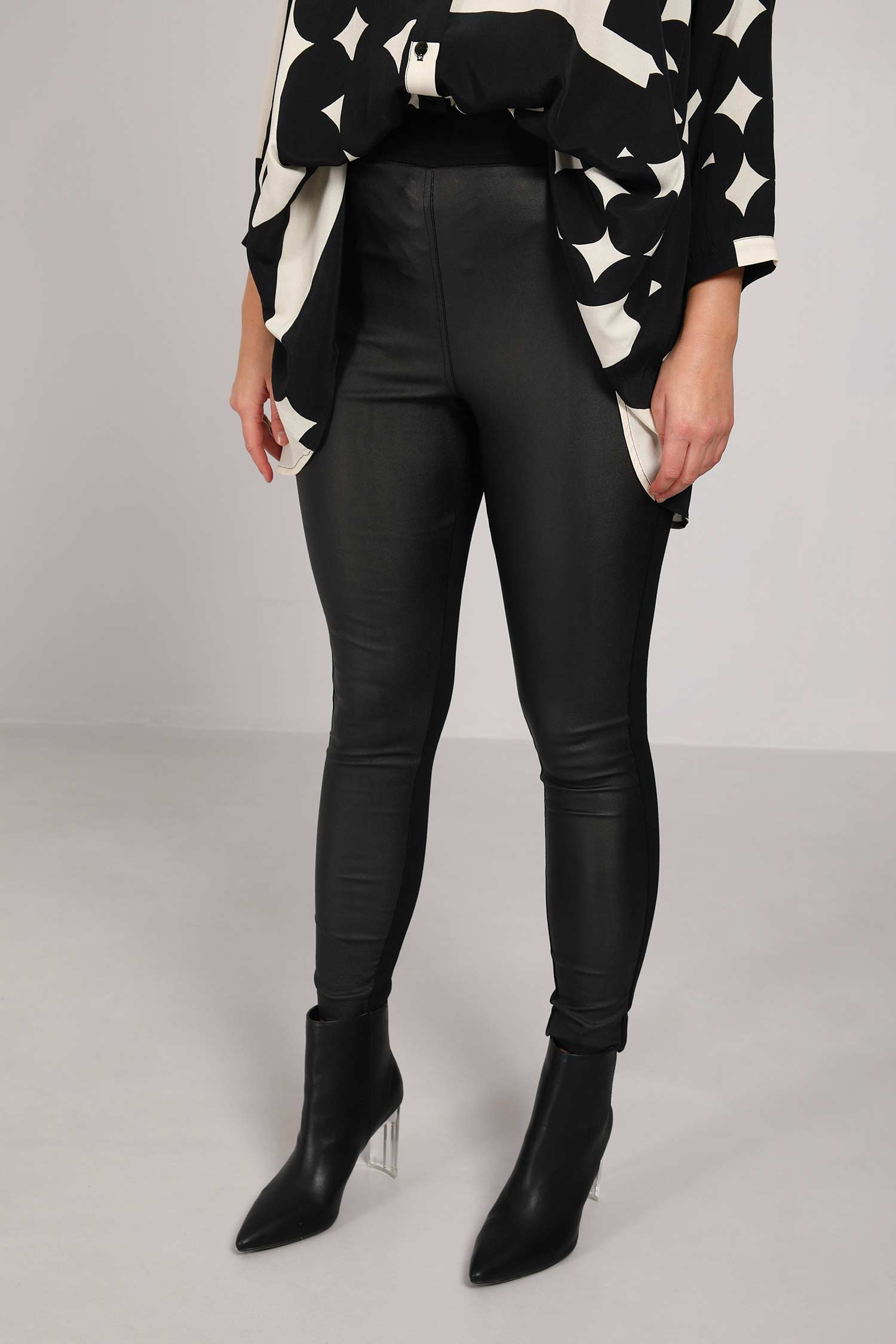 Bi-material trousers / leggings