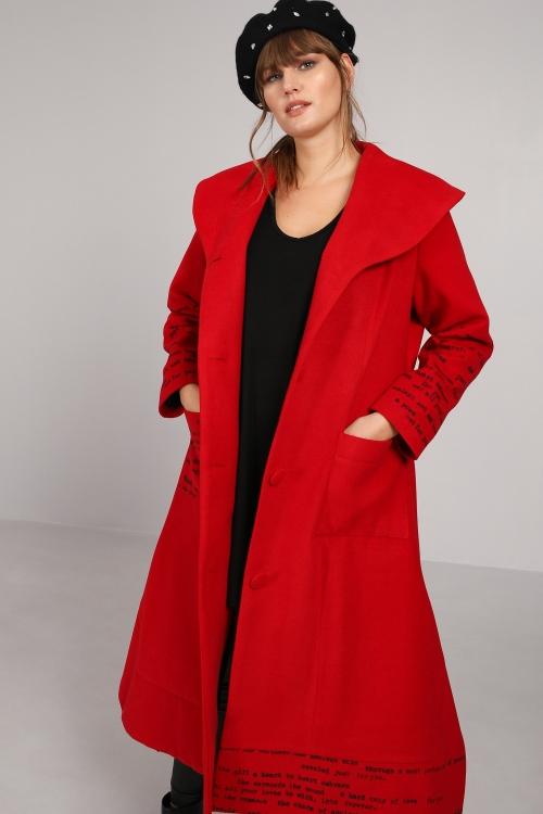 Long coat with screen printing