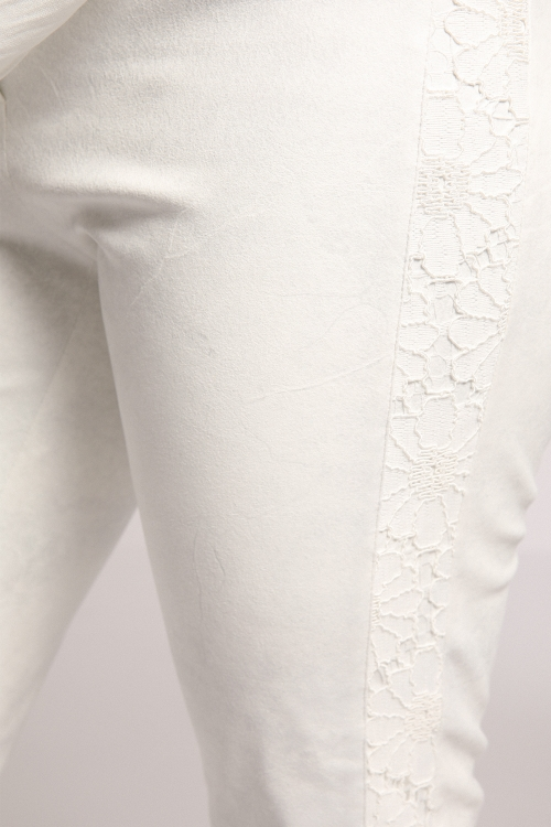 Faux lace pants