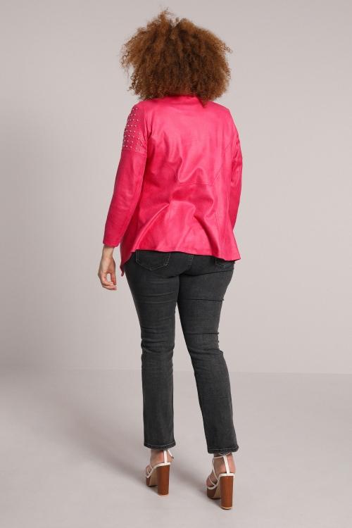 Studded faux leather jacket