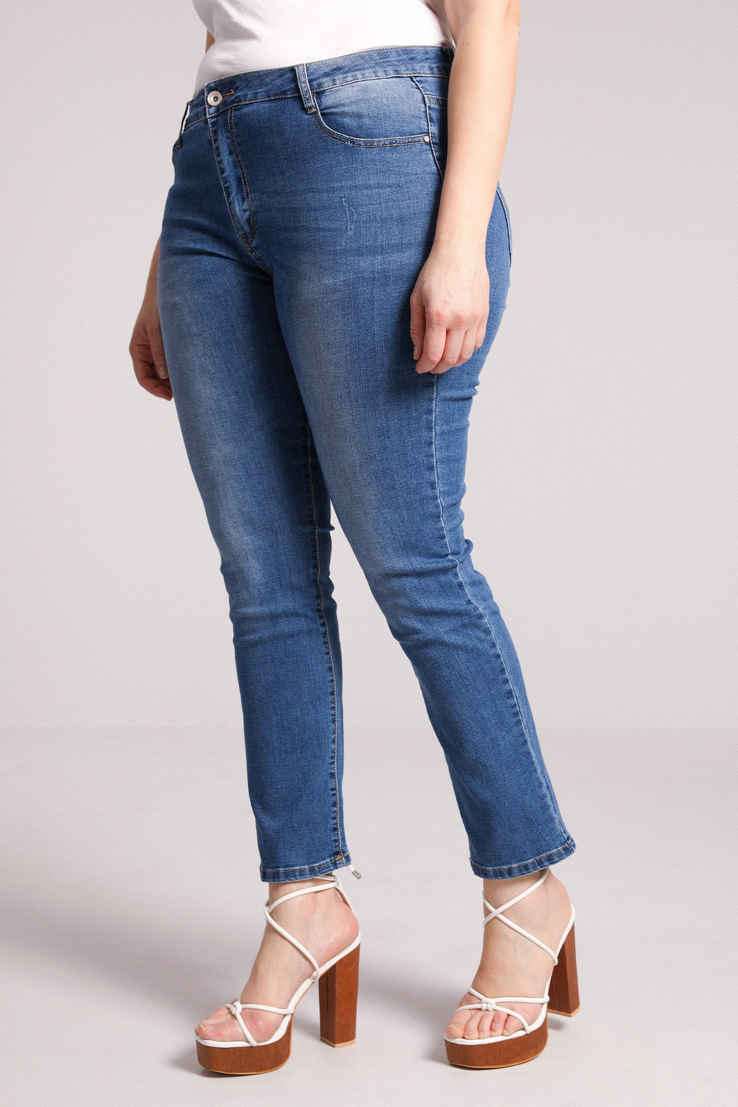 Clear used jeans