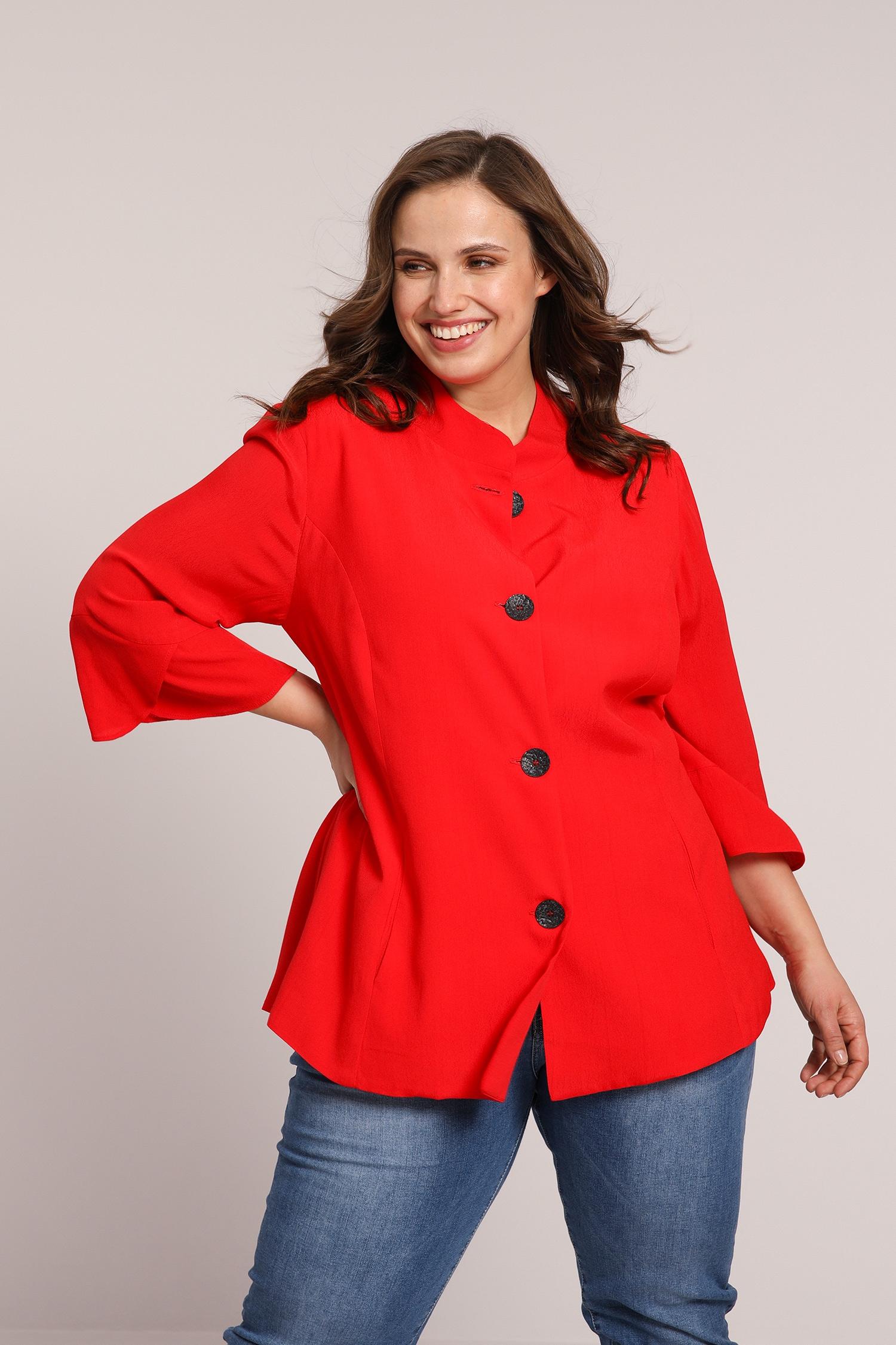 Fluid crepe jacket