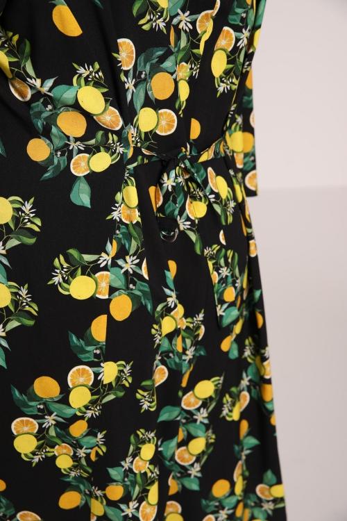 Printed fibranne dress