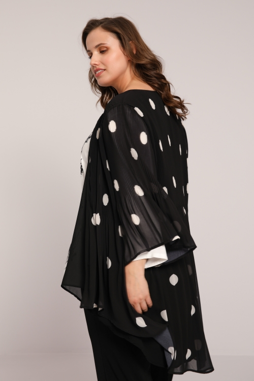 Dotted pleated voile jacket