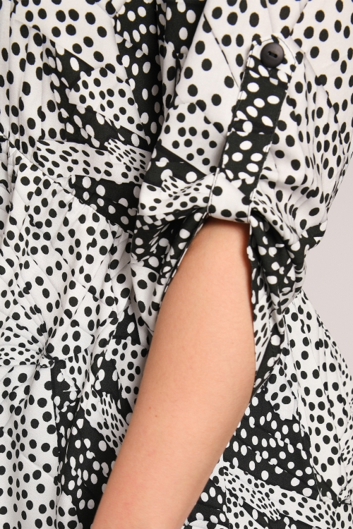 Empire cut polka dot blouse