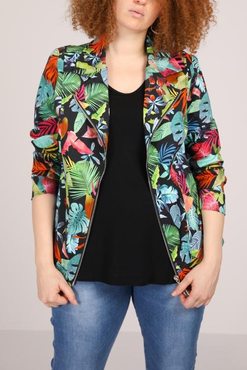 Printed perfecto jacket