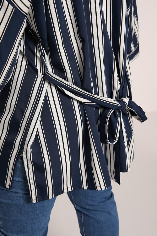 Kimono striped jacket