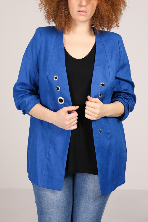 Linen eyelet jacket