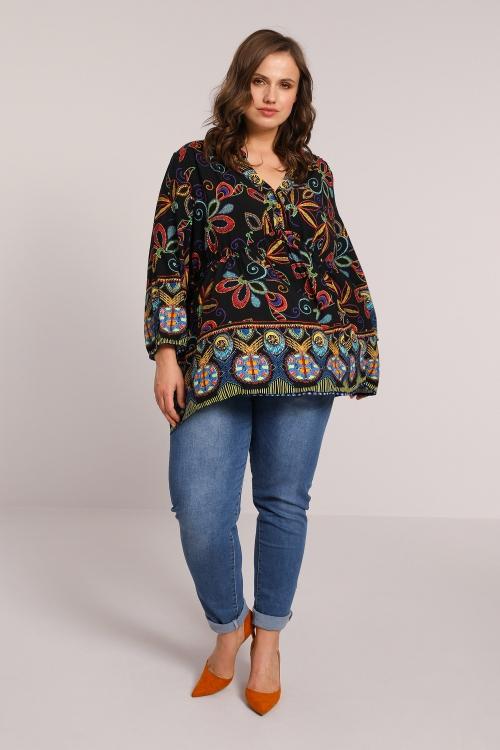 Ethnic print blouse