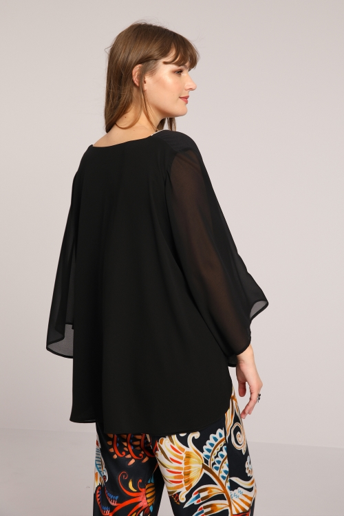 Blouse with placed design
