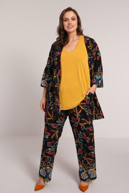 Ethnic print pants