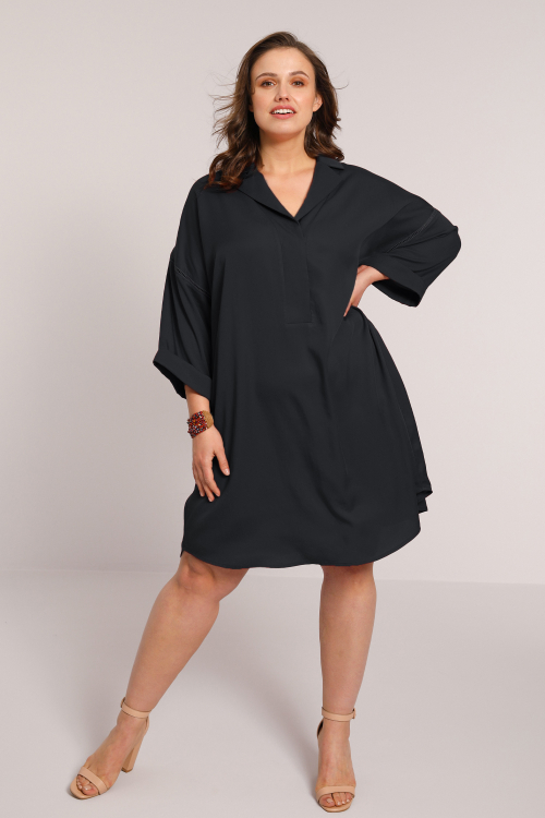 Plain tencel dress